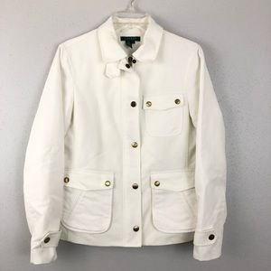 Lauren by Ralph Lauren Jacket White Brushed Cotton